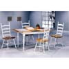 5-Pc Natural/White Dining Set 4098/4703 (CO)