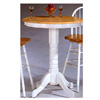 Round Solid Top Bar Table Natural/White 4099 (CO)