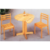 3-Pc Set Round Solid Wood Table And Chairs 4137-28 (CO)