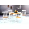 5-Pc Dinette Set In Natural/White Finish 4141-517 (CO)