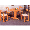 5-Pc Solid Wood Dinette Set In Natural Finish 4142-25 (CO)