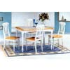 5-Pc Natural/White Dinette Set 4145/4222 (CO)