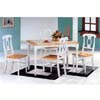 5-Pc Dinette Set In Natural/White Finish 4145-21 (CO)