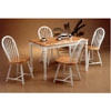 5-Pc Natural/White Solid Wood Dinette Set 4147/4129 (CO)
