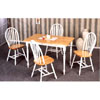 5-Pc Natural/White Solid Wood Dinette Set 4147/4133 (CO)