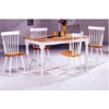 5-Pc Natural/White Solid Wood Dinette Set 4147/60/4517 (CO)