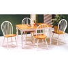 5-Piece White/Natural Dinette Set 4147/29 (PJ)