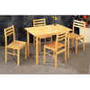 5-Pc Natural Wood Dinette Set 4150-28 (CO)