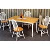 5-Pc Solid Wood Natural/White Dinette Set 4160/33 (CO)