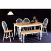 6-Pc Natural/ White Dinette Set 4160/4129/4110 (CO)