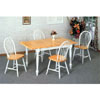 5-Pc Solid Wood Dinette Set In Natural/White 4164-29 (CO)
