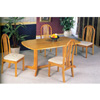 5-Pc Solid Wood Dinette Set In Oak Finish 4177-55 (CO)