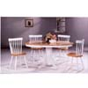 5-Pc Natural/White Solid Wood Dinette Set 4196/4517 (CO)