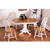 5-Pc Natural/White Oval Dinette Set 4196/90A (CO)