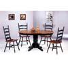 5-Pc Dark Oak Solid Wood Dinette Set 4197-04 (CO)