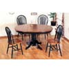 5-Pc Dark Oak And Green Dinette Set 4197/4206 (CO)
