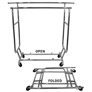 All Steel Portable Garment Rack 01-020-CHROME(AZFS96)
