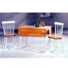 3-Pc Natural/White Table And Chairs 4251-17 (CO)