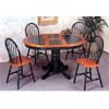5-Pc Solid Dark Oak And Green Dining Set 4252-29 (CO)