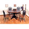 5-Pc Solid Green And Oak Dinette Set 4252/4206 (CO)