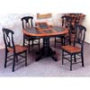5-Pc Solid Dark Oak And Green Dinette Set 4252/4116 (CO)