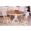5-Pc Natural/White Round Dinette Set 4254/4190A (CO)