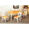 5-Pc Dinette Set In Natural/White 4258/4117 (CO)