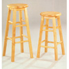 Solid Wood Bar Stool In All Natural Finish 427_ (CO)