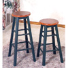 Stool In Dark Oak And Green Finish 4328_ (CO)