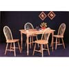 All Natural 5-Pc Dinette Set 4347/4127 (CO)