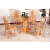 5-Pc Natural Finish Round Dinette Set 4350/4189A (CO)