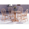 5-Pc White Wash Dinette Set  Drop Leaf Table 4352/4339 (CO)