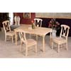 5-Pc White Wash Dinette Set 4360/4106 (CO)
