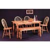 All Natural 6-Pc Dinette Set 4361/4127/4118 (COu)