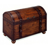 Antique Finish Trunk W/ Leather Straps & Bun Feet 4459 (CO)