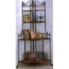 Corner Rack In Dirty Oak Finish 4484 (COui)