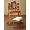 Oak Finish Photo Vanity Set 4509(CO)