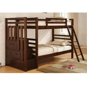 Twin/Twin Bunkbed With Staircase 460087/88 (CO)