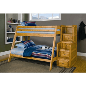 Twin/Full Bunk Bed with Staircase 460093/8 (CO)
