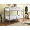 Morgan Silver Metal Twin Twin Bunk Bed (400 Lbs Weight Cap)