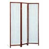 Three Panel Cherry Finish Screen Pleated Fabric 4618(CO)