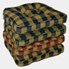 Squares Plaid Boxed Chair Cushion 4709_(GHF)
