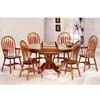7-Pc Oak Finish Dinette Set 4815/5388A/89A (CO)