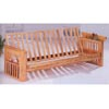 Natural Finish Futon With Magazine Rack 4846 (CO)