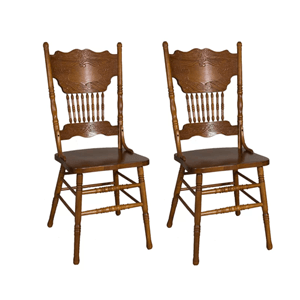 Set Of Two Acadian Double Press Back Side Chair (300 Lbs Weight Capacity)