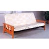 Mission Style Oak Finish And Metal Futon Frame 4885 (CO)