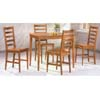 5-Pc Dining Set In Brown Finish 4930 (CO)