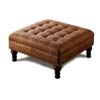 Brown Microfiber Ottoman 500914 (CO)