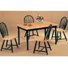 5-Pc Natural/Black Finish Dinette Set 5149/4130 (CO)
