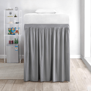 Extended Bed Skirt Twin XL (3 Panel Set) - Alloy